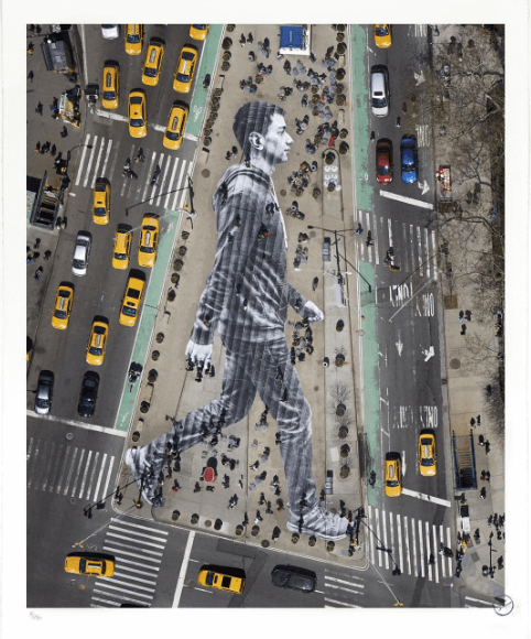 Walking New York, a Flatiron district art installation by noted French artist JR.