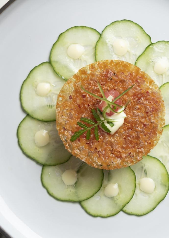 Gabriel Kreuther Spicy Tuna Dish 1