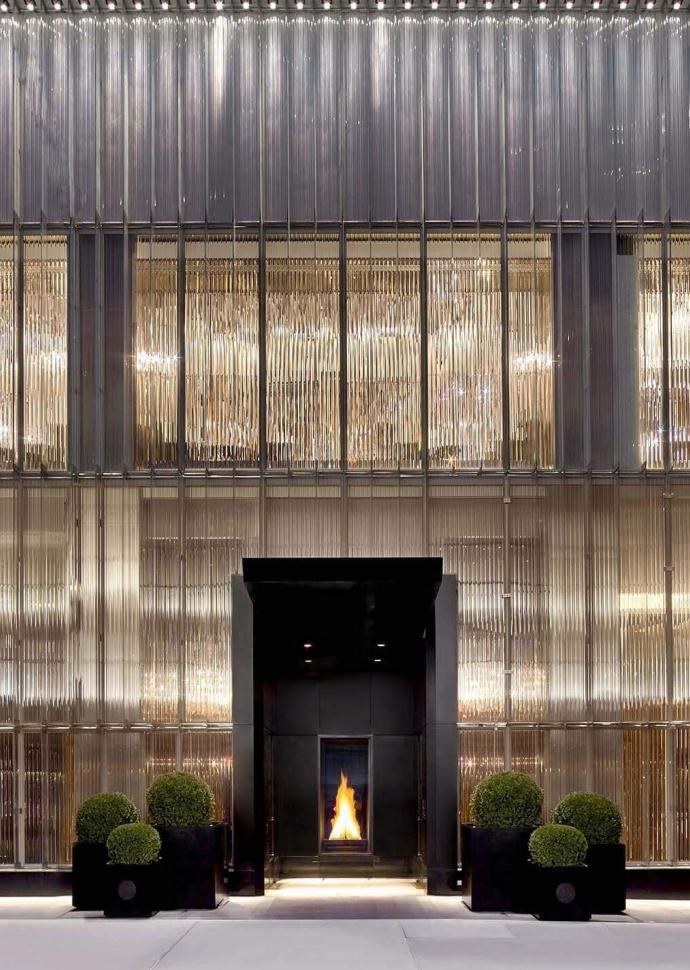 entrance to baccarat hotel