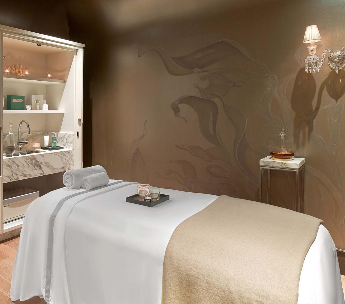 A treatment room at Spa de la Mer, Baccarat Hotel