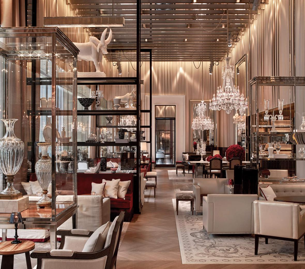 heart of gold inspiring interiors elegant in manhattan manhattan interiors Luxury Hotel in Manhattan, NYC   Baccarat Hotel