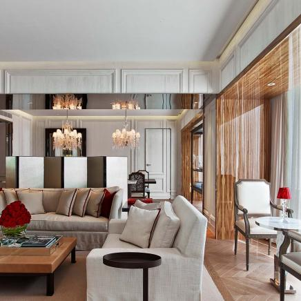 baccarat suite living area