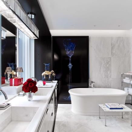 baccarat suite bathroom