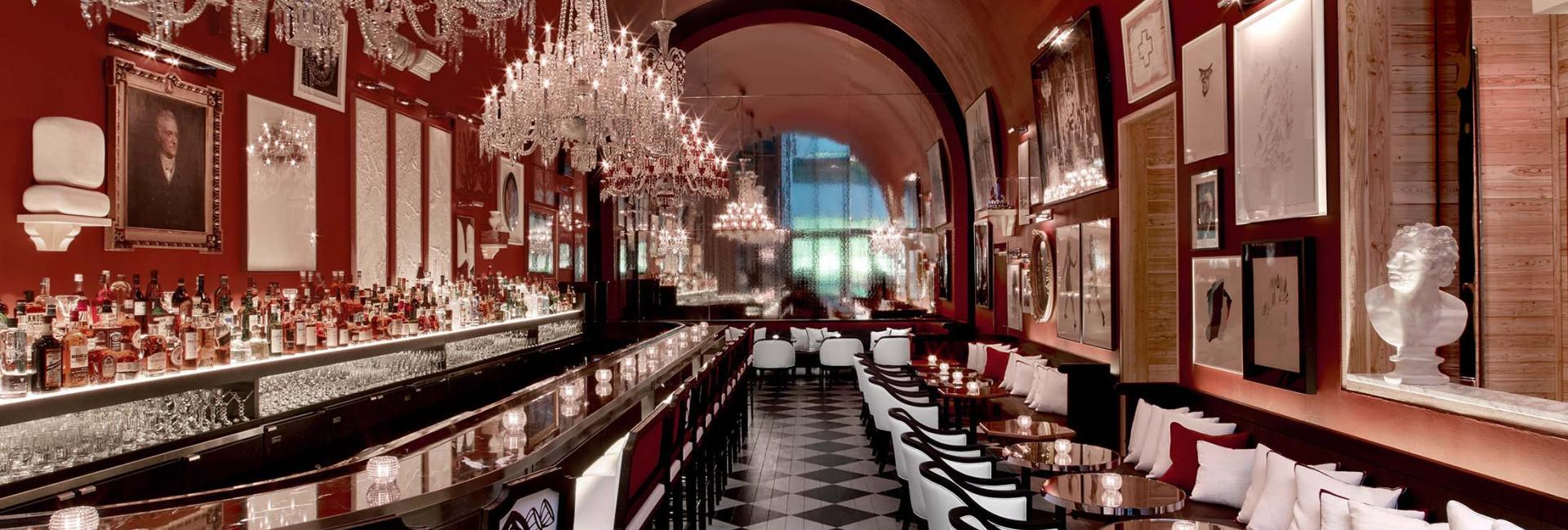 The interior of the Baccarat bar